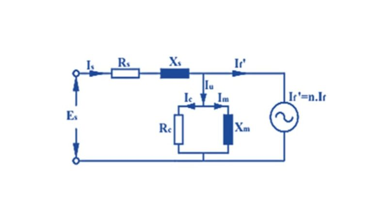 Senkron Motor Basitleştirilmiş Bir Faz Eşdeğer Devresi